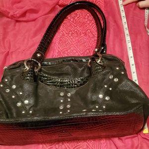 Black Kathy Van Zeeland studded shoulder bag